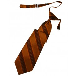 Autumn Venetian Stripe Long Tie