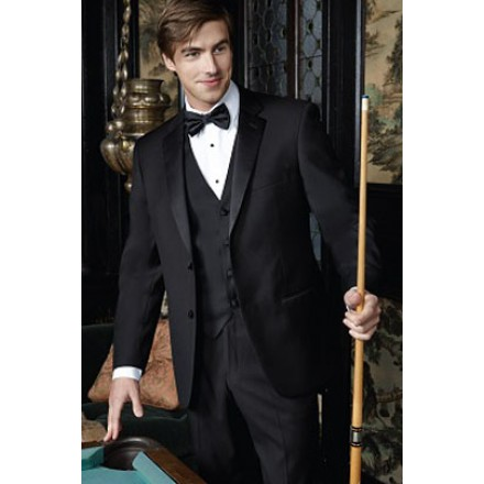 Identity Black 2-Button Notch Tuxedo