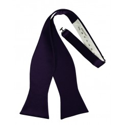 Amethyst Self-Tie Solid Satin Bowtie