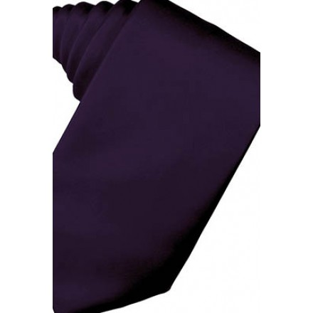 Amethyst Solid Satin Suit Tie
