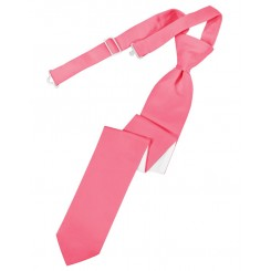 Bubblegum Solid Satin Skinny Tie