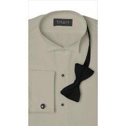 Wingtip Flat-Front Champagne Tuxedo Shirt