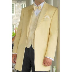 'Montigo' 2-Button Notch Maize Colored Tuxedo Jacket