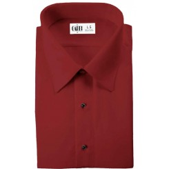 Laydown Flat-Front Red Shirt