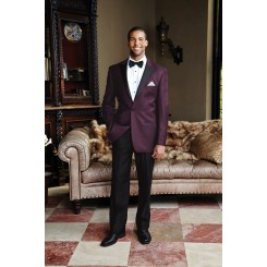 'Fitzgerald' Plum w/ Black Lapels Tuxedo Jacket by Cardi