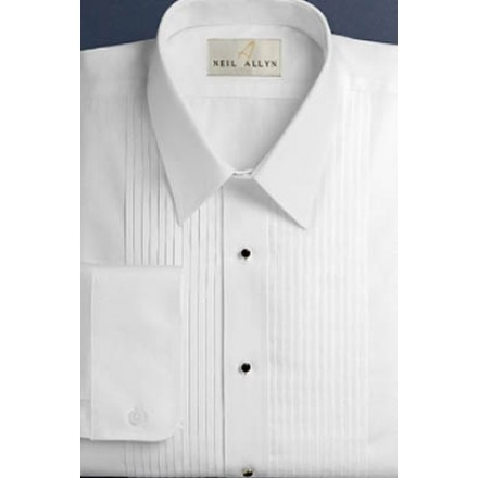 SLIMFIT Laydown Pleated White Tuxedo Shirt