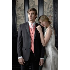'Aspen' Black 2-Button Notch Wedding Suit Jacket