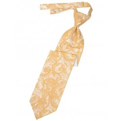 Apricot Tapestry Long Tie