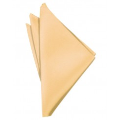Apricot Solid Satin Pocket Square