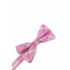 Plaid Bow Tie in Pink by Cardi