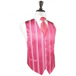 Bubblegum Striped Satin Vest