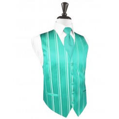 Mermaid Striped Satin Vest