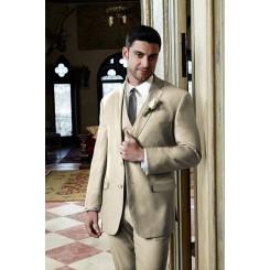 'Aspen' Tan 2-Button Notch Wedding Suit Jacket