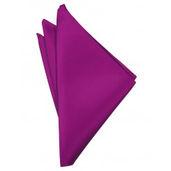 Fuchsia Solid Satin Pocket Square