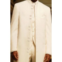 'Nomad' 10-Button Ivory Tuxedo Jacket by Andrew Fezza
