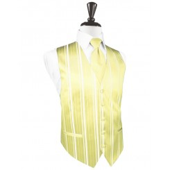 Canary Striped Satin Vest