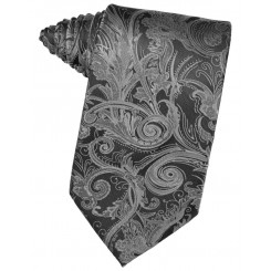 Silver Tapestry Suit Tie