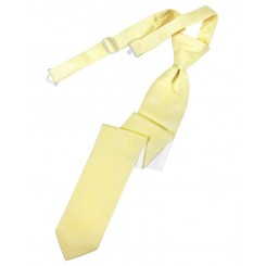 Canary Solid Satin Skinny Tie