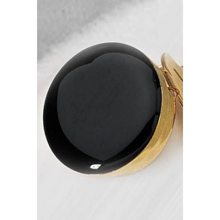 Black/Gold Button Cover