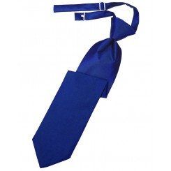 Royal Blue Solid Satin Long Tie