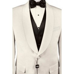 Premiere' Ivory Shawl Dinner Jacket by Cardi
