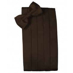 Chocolate Solid Satin Cummerbund