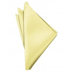 Canary Solid Satin Pocket Square