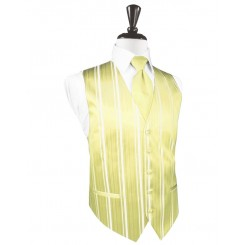Banana Striped Satin Vest