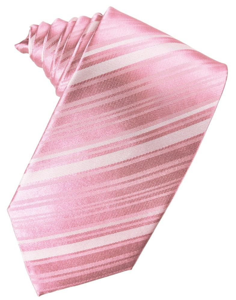 a93677b41d58 Striped Satin Suit Tie in Coral