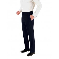 Aspen Navy Super 150's Skinny-Fit Flat Front Suit Pants