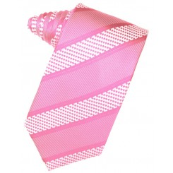 Bubblegum Venetian Stripe Suit Tie