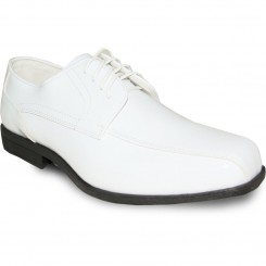 'Joy' Premium Gloss White Tuxedo Shoes
