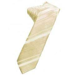 Bamboo Striped Satin Skinny Suit Tie