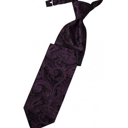 Berry Tapestry Long Tie