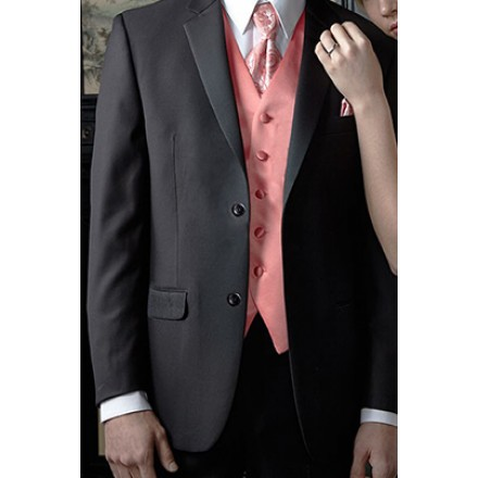 Aspen' Black 2-Button Notch Wedding Suit Jacket