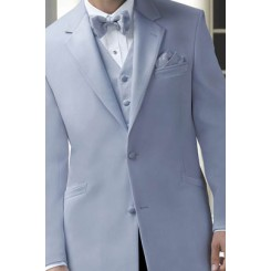 'Montigo' 2-Button Notch Periwinkle Tuxedo Jacket