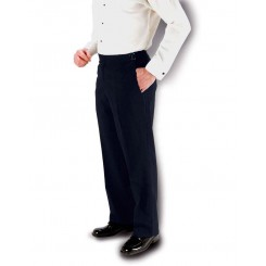 Aspen Black Super 150's Flat Front Suit Pants