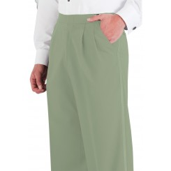 Mint Pleated Tuxedo Pants