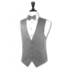Heather Grey Infinity/Aspen Super 150's Vest