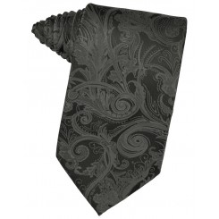Charcoal Tapestry Suit Tie