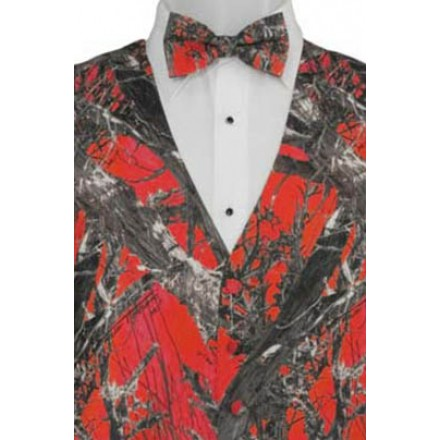 Red True Timber Camouflage Print Vest