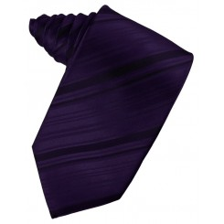 Amethyst Striped Satin Suit Tie