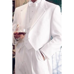 'Notch Tailcoat' White Full Dress Tails Tuxedo Jacket by After Six