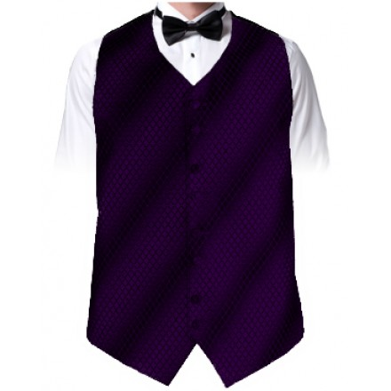 Purple Diamond Dot Vest