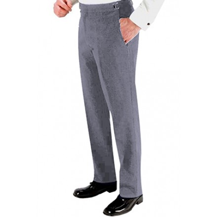 Heather Grey 150's SKINNY-FIT Flat Front Suit Pants