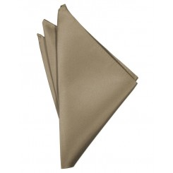 Latte Solid Satin Pocket Square