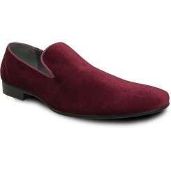 'Klein' Burgundy Velvet Slip-On Shoes