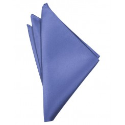 Cornflower Solid Satin Pocket Square