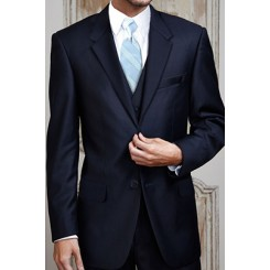 'Aspen' Navy 2-Button Notch Wedding Suit Jacket