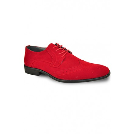 'Roland' Wing-Tip Oxford in Red